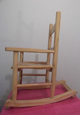 Pretty Little Childs Rocking Chair. Solid Varnished Wood. Rustic Finish