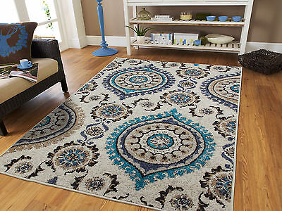 LUXURY AREA RUGS 8x10 Navy Dark Blue Contemporary Area Rugs 5 x 7 ...