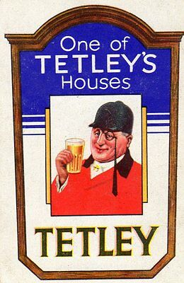 "RARE VINTAGE ""Tetleys Houses (Blue Card) British Brewery"" SINGLE Playing Card"