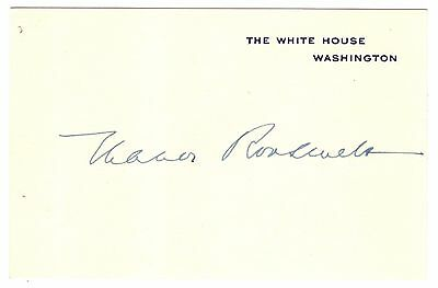 Eleanor Roosevelt - White House Card Signed - In the Finest Condition