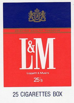 "RARE MINT ""L & M (Liggett & Myers) Cigarettes"" SINGLE Playing Card"