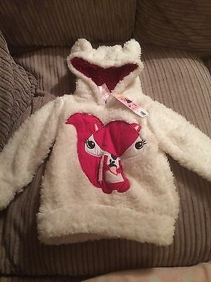 Stunning Girls Fluffy Jumper Age 2-3 New With Tags