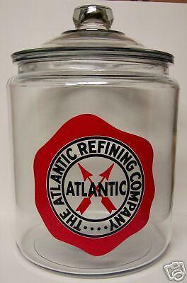 Very Nice Atlantic Refining Co. Glass Counter Jar