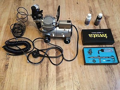 Airbrush Kit With Compressor Iwata HP-SBS