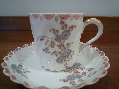 Antique Haviland and Co Limoges porcelain cup and saucer