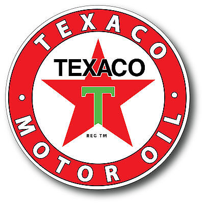 Texaco Style 3 Super High Gloss Outdoor 4 Inch Decal Sticker