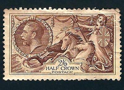 """Great Britain Stamp: KGV """"Britannia Rule the Waves"""" 2/6 Crown Postage Stamp NH"""