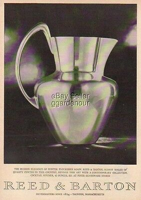 1959 Reed & Barton Cocktail Pitcher Taunton MA Mass Photo Print Ad MMXV