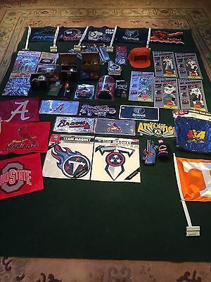 Lot of NBA NFL MLB NBA NASCAR Sports Memorabilia Collection 51P NEW AND USED
