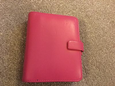 Filofax pocket small pink organiser in support breast cancer campaign has innard