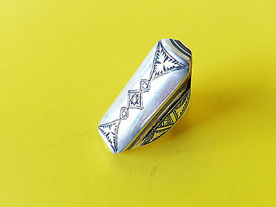 Handmade African Tuareg Ring Ethnic Tribal Jewelry Silver Gypsy Bohemian Artisan