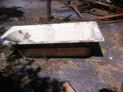 Cast Iron Bath with matching sink