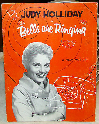 Souvenir Program for the Musical Bells Are Ringing, Judy Holliday Comden & Green