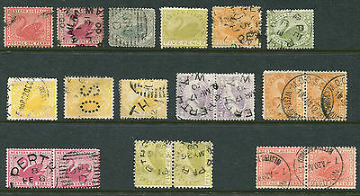 1854-1912 Western Australia.  Unchecked selection of 19 state stamps.