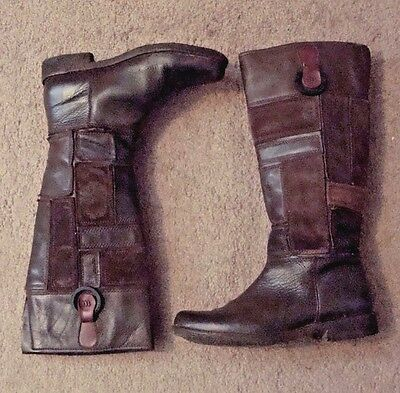 Timberland, Ladies Sz 6M Knee High Equestrian Style Boots, Brown Leather & Suede