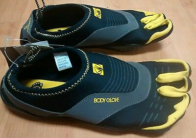 Body Glove 3T Men's Size 12 Barefoot Cinch Water Shoe 3 toe Aqua Surf Shoe