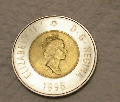 1996 Canada 2 Dollar Coin, Circulated