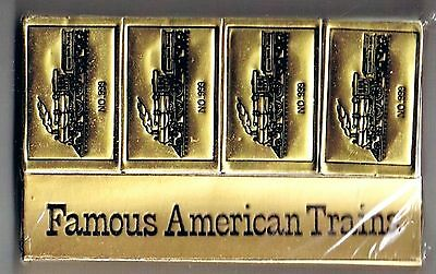 4 Matchbox Famous American Trains No 999 Original Package Sealed Silver Blue