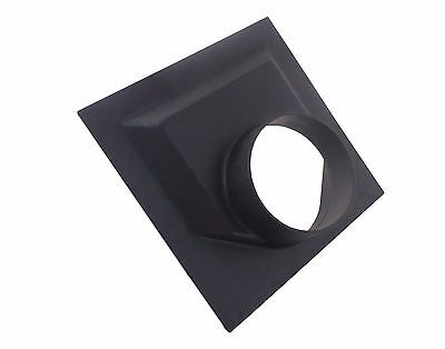 """Dust Collector Dust Hood Flange ABS 8"""" x 8"""" x 2.5""""  with 4"""" OD Opening 73474"""