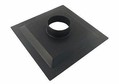 """Dust Collector Dust Hood Flange ABS 12"""" x 12"""" x 2.5""""  with 4"""" OD Opening 73467"""