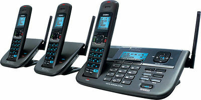 Uniden XDECT R055+2 2-Line Triple Cordless Phone with Repeater+Answering Machine