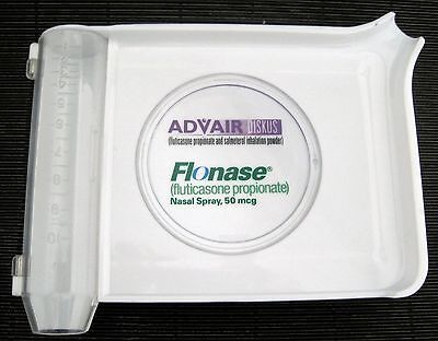 Vintage Pharmacy Pill Sort Counting White Plastic Tray Advair Flonase