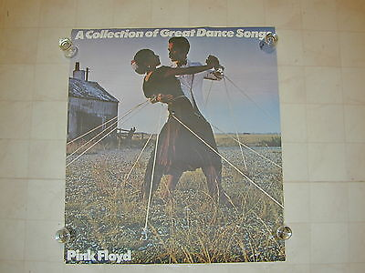 """Pink Floyd """"A Collection Of Great Dance Songs"""" Rare Promo Poster # 1"""