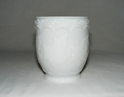 Antique Victorian Early Canadian Pressed Glass Maple Leaf Spooner Jar Rare White