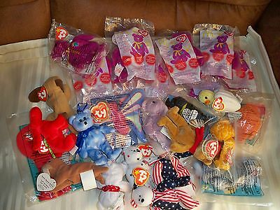 Lot Of 25 Ty Teenie Beanies ~ (8 Crew Only Sealed *millennium*)  + 17 Others
