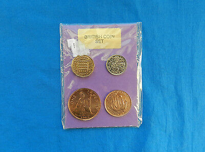 Set of 4 Uncirculated Great Britain Coins *IOP*      *UNC*