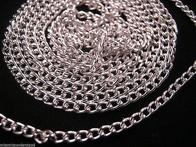 1 Meter of Silver Plated Chain 3mm Links for Jewellery Findings and Crafts