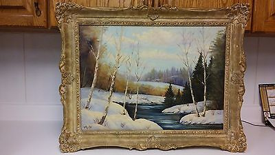 Nice old landscape oil painting