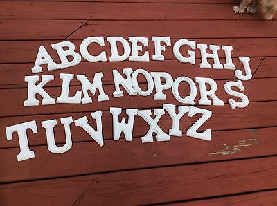 """custom painted 6"""" white wood letters"""