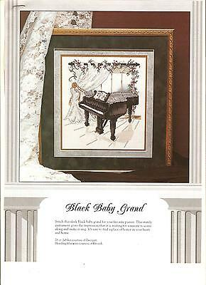 "Counted Cross~Stitch Chart For ""baby*grand*piano"""