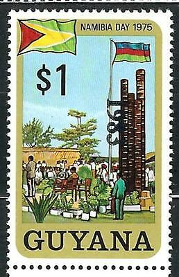 """Guyana Stamp: Overprint """"1983"""" on $1 Nambia Day Freedom Monument Sc.# 593"""