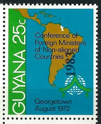 """Guyana Stamp: Overprint """"1983"""" on 25c Conf. of Non-aligned Countries Sc.# 573"""