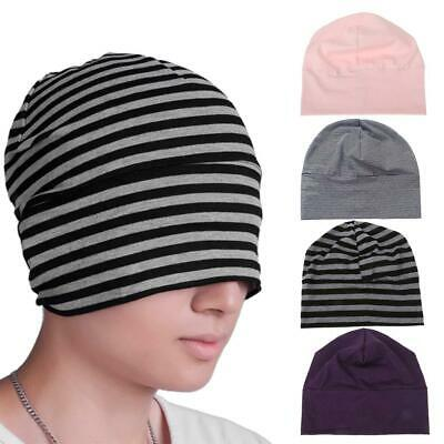 Unisex Indoors Cotton Beanie Hat Soft Sleep Night Cap for Hairloss Cancer Chemo