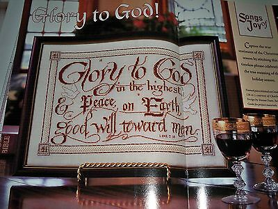 "Counted Cross~Stitch Charts For ""glory*to*god"" Christmas Sampler"