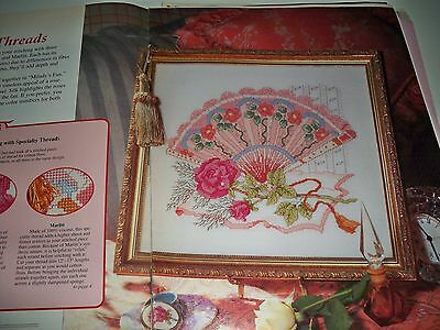 "Counted Cross~Stitch Chart ""milady's*fan"" Picture"
