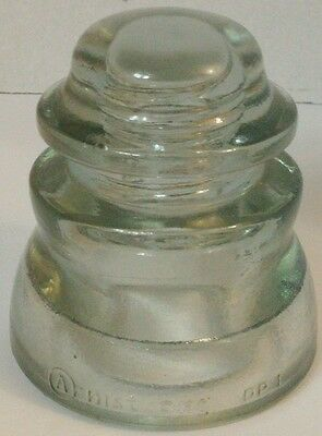 Vintage Electrical Armstrong Light Green Glass Insulator made in America