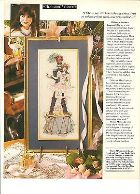 "Counted Cross~Stitch Chart For ""toy*soldier & Ballerina"" Mary*bartlett*stockett"