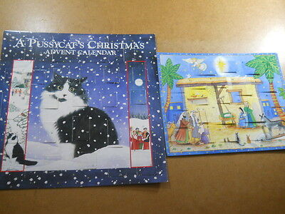 2 Advent Calendars A Pussycat Christmas 1995 Readers Digest 2001 Christmas