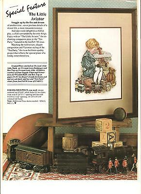 "Counted Cross~Stitch Chart For ""the*little*aviator"" Boy Picture"