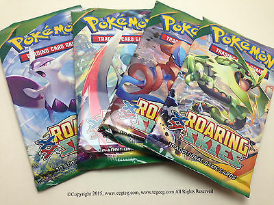 4 x Pokemon XY Roaring Skies Booster Packs (10 Cards/pack) - Factory Sealed