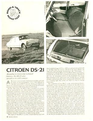 1966 Citroen DS-21 vintage test article 4-page test! - original DS21 DS-19