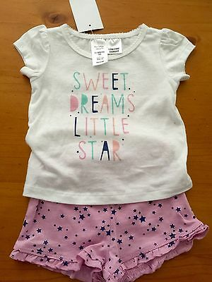 Baby Girls Pjs Set Size 000 Pyjamas New