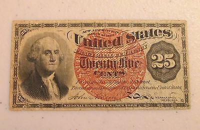 1863 4th Issue US Fractional Currency 25 Cents 25C - Lot AD1