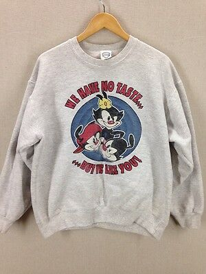 Vintage Animaniacs crewneck sweatshirt. Heather gray. Size Large. Made in USA.