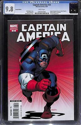 Captain America #25 (Vol 5) Variant Cover by Ed McGuinness CGC 9.8