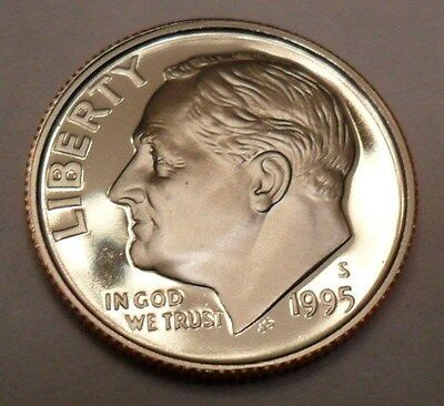 1995 S Roosevelt *proof* Dime  **free Shipping**